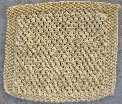 knitted dishcloths crocusbuds2