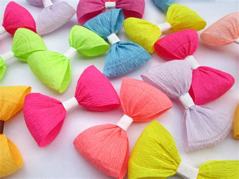 crepe paper decorations for 12 paper bows crepe paper bows birthday decoration wedding