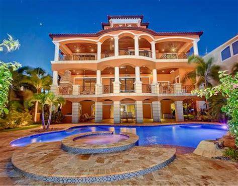 Tuscan Kitchen Island 2 85 million waterfront mediterranean mansion in port