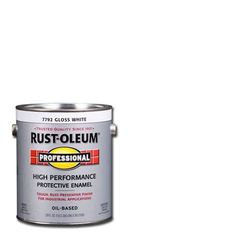 home depot paint guard rust oleum professional 1 gal white gloss protective