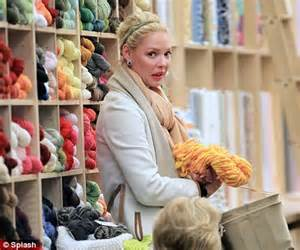 knitting shops near me katherine heigl stocks up on yarn at a knitting shop