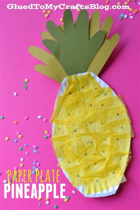 summer construction paper crafts paper plate pineapple kid craft summer crafts for