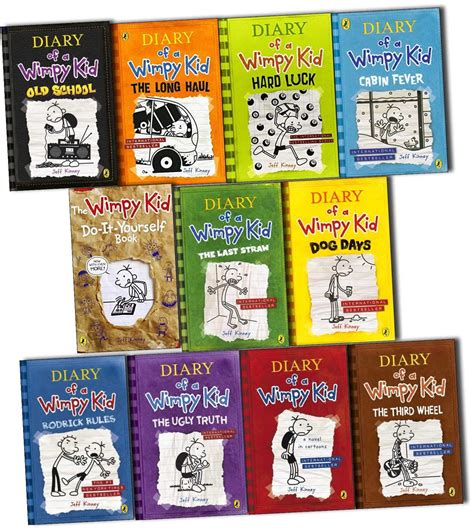 pictures of jeff kinney books diary of a wimpy kid collection 11 books set pack by jeff