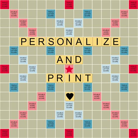 create a scrabble board personalize print a scrabble styled board for