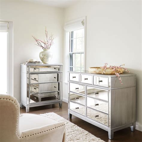 mirrored bedroom dresser hayworth mirrored silver chest dresser bedroom set