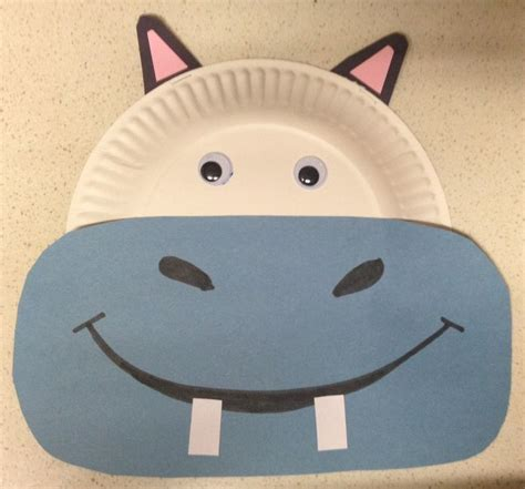 hippo paper plate craft 17 best ideas about hippo crafts on