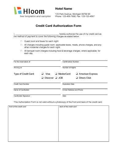 how to make hotel reservation without credit card credit card authorization forms hloom
