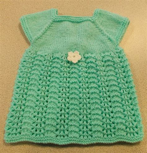 free knitted dress patterns for toddlers sweet summer knit baby dress allfreeknitting