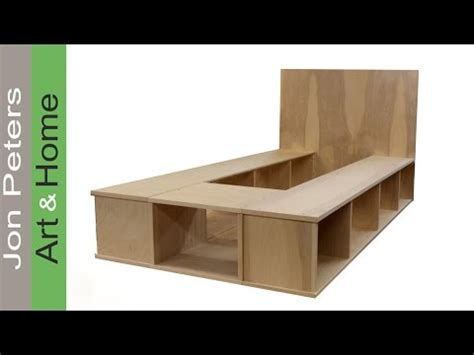 build bed build a platform bed with storage part 1
