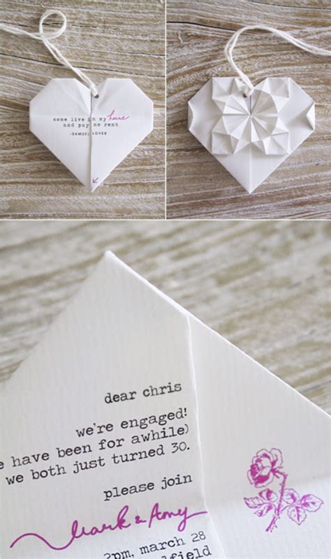 origami invitation 30 creative ideas to make your own wedding invitations