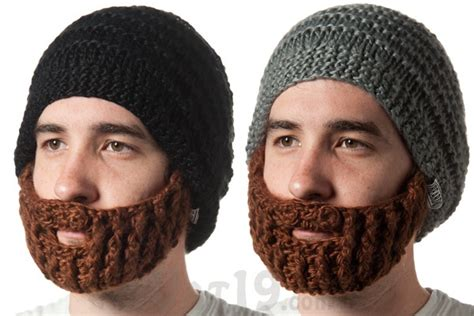 knit hat with beard beardo beard hat a knitted beanie with detachable