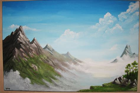 acrylic painting mountains mountains acrylic by joey b on deviantart