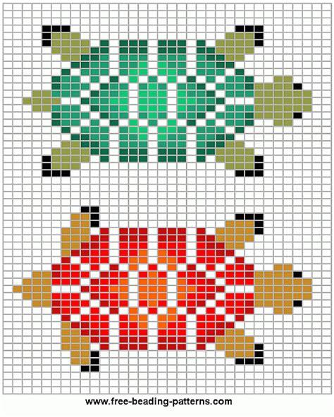 beading pattern loom beadwork design turtle variations