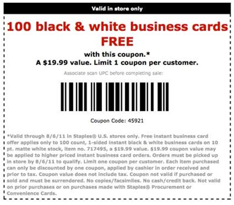 does staples make business cards 100 free business cards at staples coupon karma