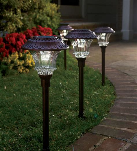 best outdoor solar path lights plow hearth solar path lights review 50 gift card