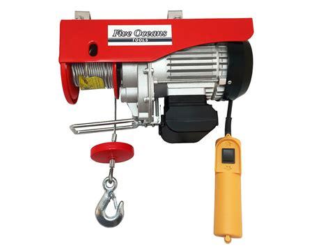 Electric Hoist Motor by 1320lb Overhead Electric Hoist Crane Lift Garage Winch W