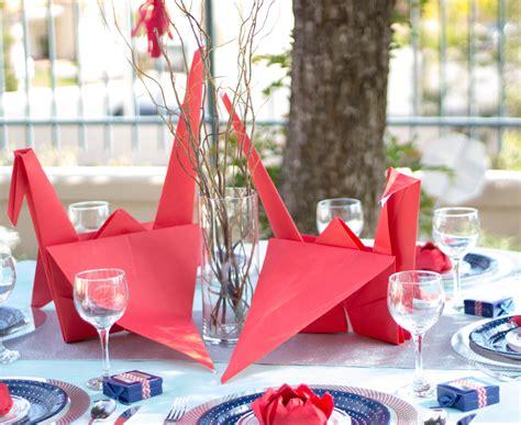 origami crane wedding decoration origami themed wedding table and centerpiece ideas