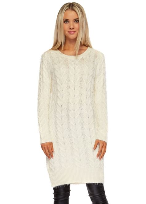 cable knit dress cable knit jumper dress oversized slouch jumper