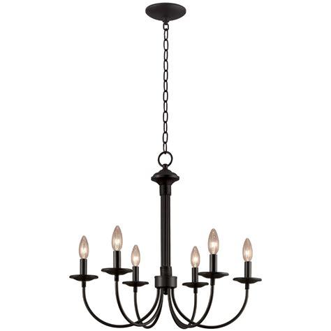 lowes chandeliers black shop portfolio 6 light new century black chandelier at