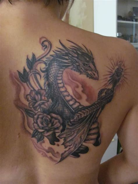 fire dragon tattoos designs