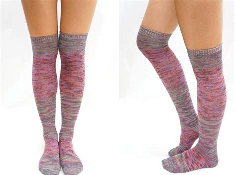 knitted knee high socks pastel block knitted thigh high knee high socks mix on