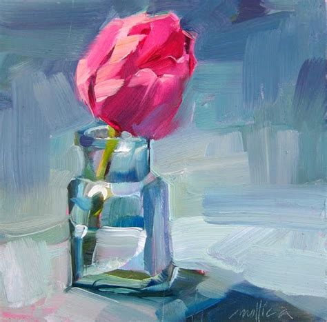 tulip in a bottle patti mollica painting whatever whenever pink tulip