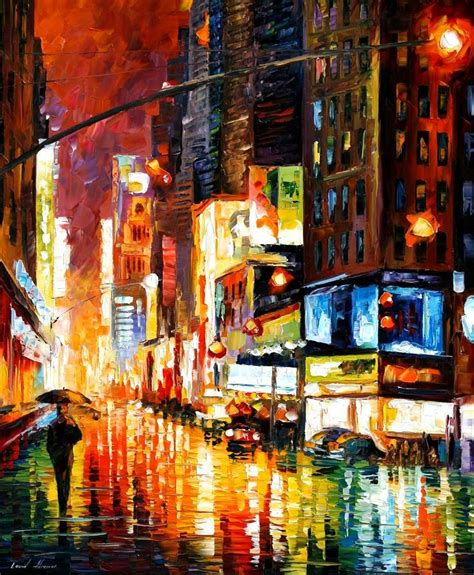 paint nite in nyc leonid afremov on canvas palette knife buy original