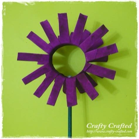 toilet paper roll flowers craft crafty crafted 187 archive crafts for children