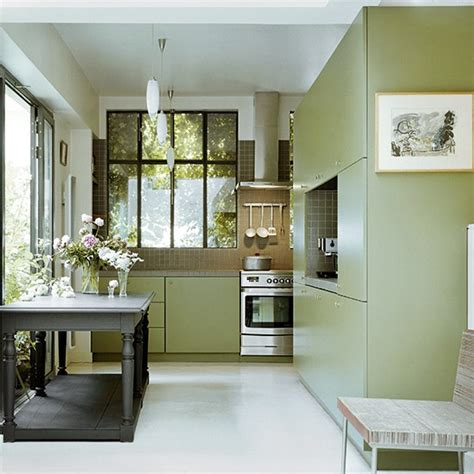 green kitchen ideas streamlined kitchen with green cabinetry green kitchen