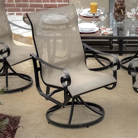 patio dining chair la salle sling patio swivel rocker dining chair modern