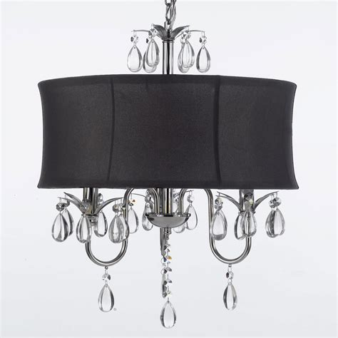 black shade chandelier g7 black 834 3 chandeliers with shades chandelier