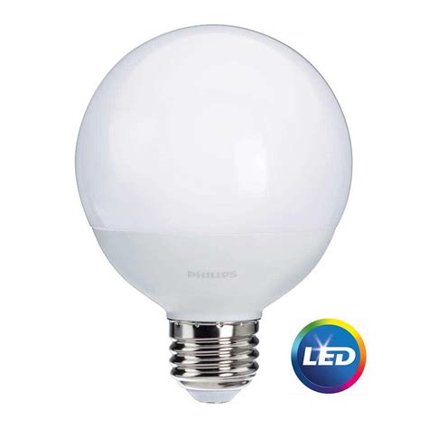 led light bulbs for the home philips 60w equivalent soft white frosted g25 globe led