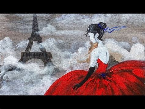 acrylic painting dress dress eiffel tower beginner acrylic painting class