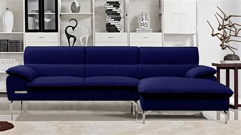 blue sectional sofa with chaise sapphire blue sectional set with chaise zuri furniture