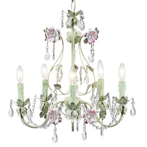 pink and green chandelier pink and green flower garden chandelier 7469