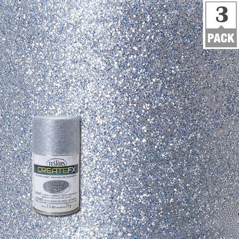 home depot spray paint glitter testors createfx 2 5 oz silver glitter spray paint 3