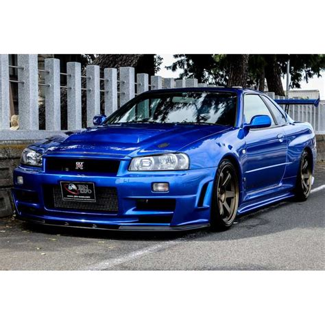 Skyline Gtr R 34 by Nissan Skyline Gt R R34 Bayside Blue For Sale Import Jdm