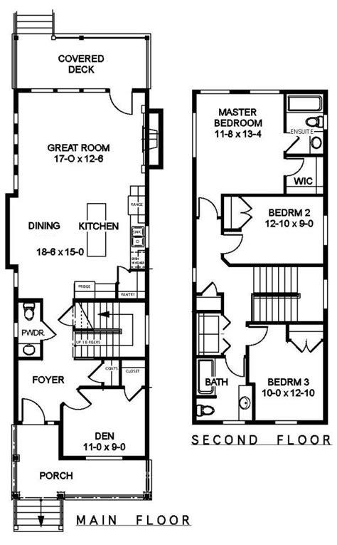 narrow homes floor plans best 25 narrow house plans ideas on narrow