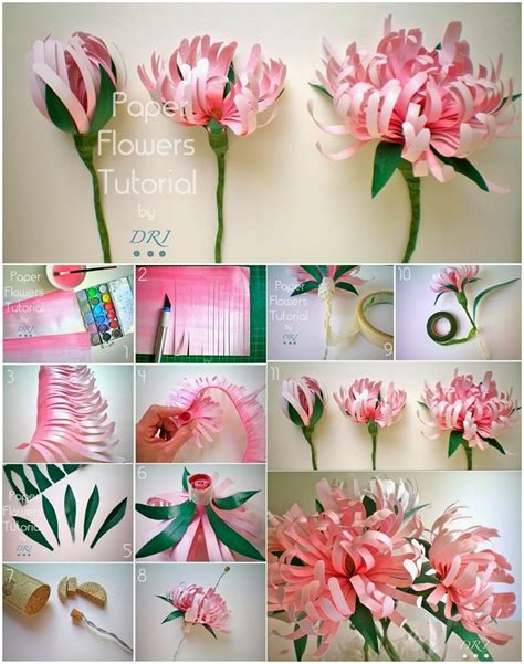 paper crafts tutorials pretty diy paper flowers to make for home