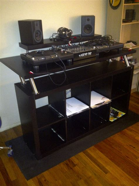 dj studio desk how to create a professional dj booth from ikea parts