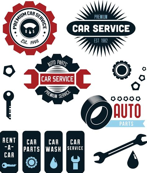 Car Wallpaper Photoshop Shirt Template by Vintage Vector Car Service Labels Free Vectors Cards And