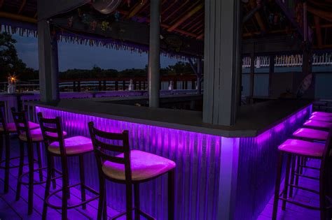 led lights for bars led outdoor bar lighting tropical patio st louis