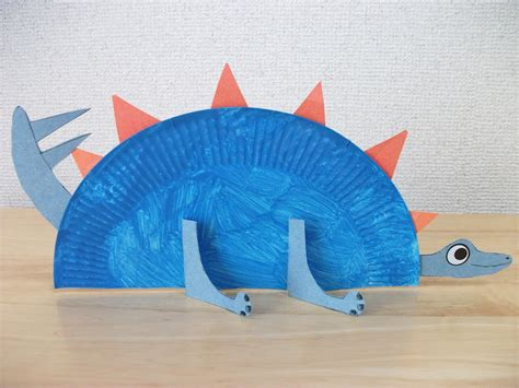 dinosaur crafts for to make preschool crafts for paper plate stegosaurus
