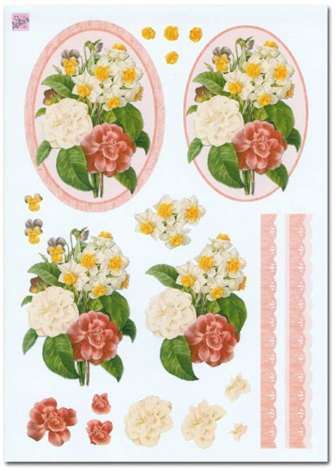 flower decoupage 3d decoupage set flower floral theme 4 sheets 163 1 99