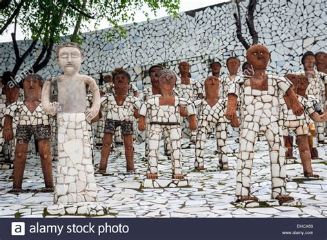 rock garden nek chand nek chand rock garden in chandigarh punjab india stock