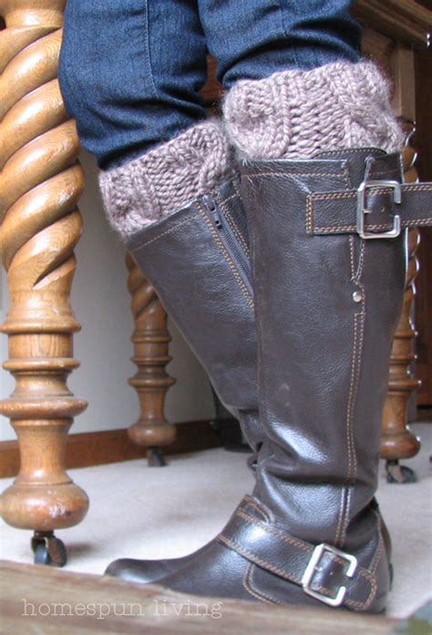 cable knit boot cuffs pattern homespun living a free boot cuff pattern just for you