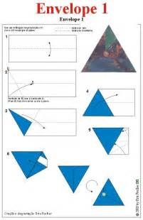 origami envelop enveloppe driehoek origami origami