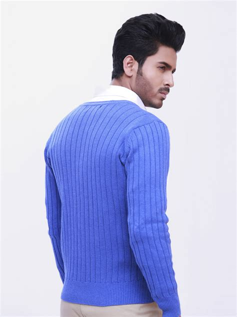 blue knit sweater royal blue cable knit sweater brumano
