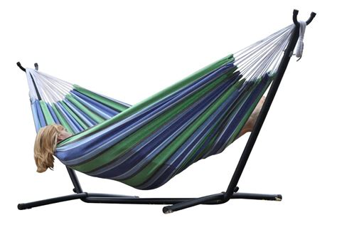 outdoor hammock with stand new vivere hammock space saving steel stand patio garden cotton desert ebay