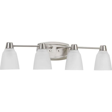 home depot bathroom lighting brushed nickel progress lighting asset collection 4 light brushed nickel